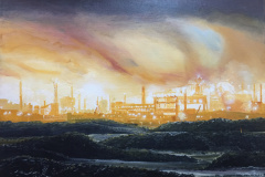 Ravenscraig Steel Works Sketch